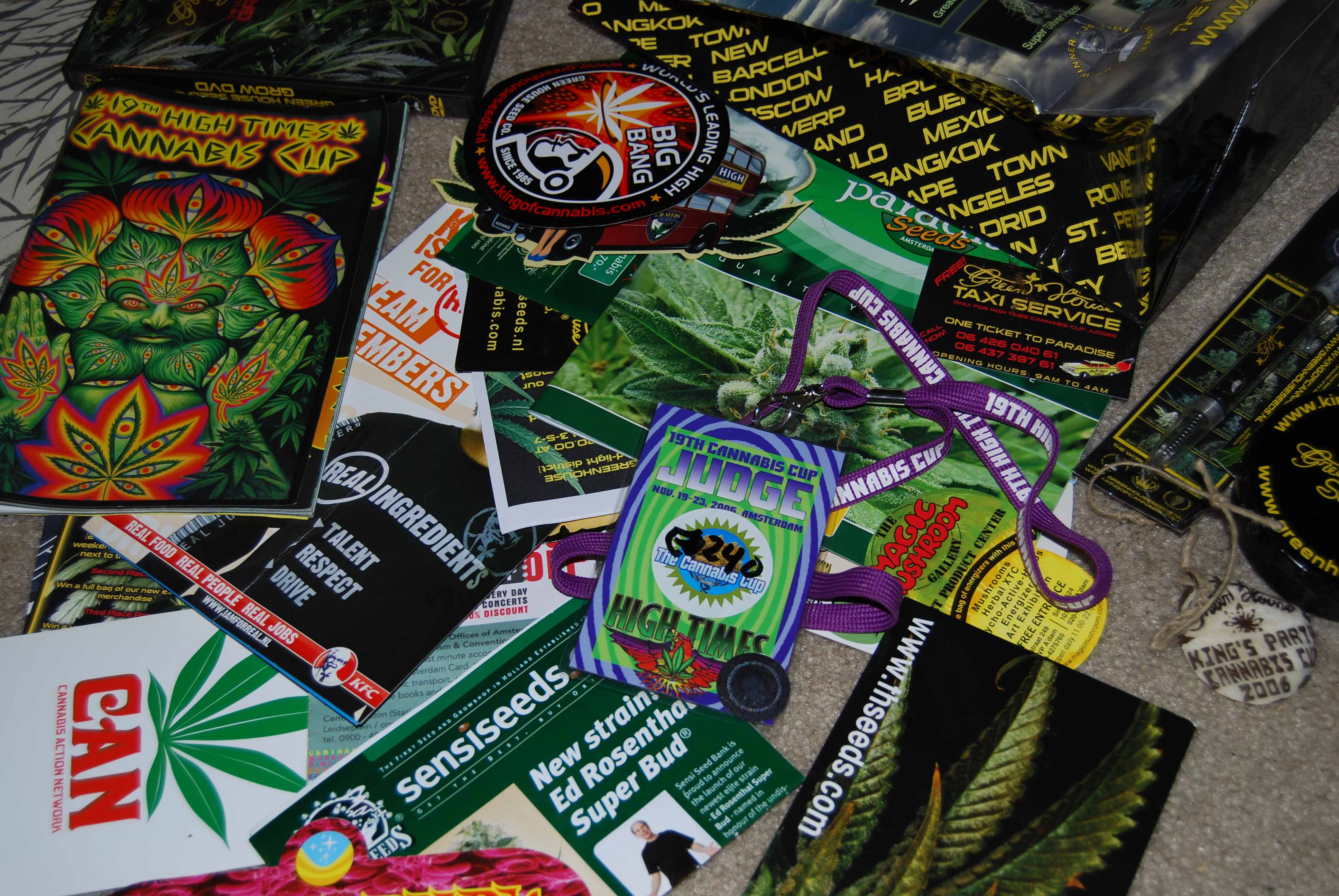 High Times cannabis cup 2014 judge pass